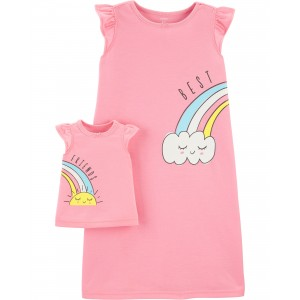 Rainbow Matching Nightgown & Doll Nightgown Set