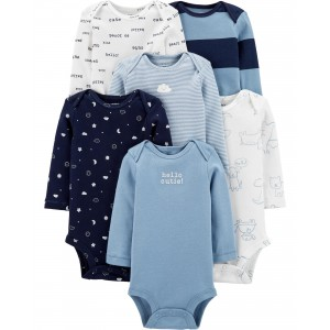 6-Pack Long-Sleeve Original Bodysuits