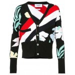 striped floral cardigan