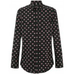 micro floral western shirt