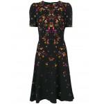 night pansy printed tea dress