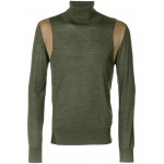 panelled turtle neck sweater