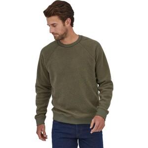 Reversible Shearling Crew Sweatshirt - Mens