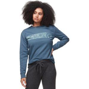 Topo Stripe Fleece Crew T-Shirt - Womens