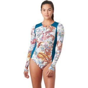 Caoba Palms Surfer One-Piece Rashguard - Womens