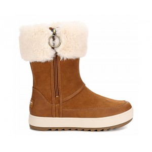 Koolaburra By Ugg Womens Tynlee Fur Boot - Rust