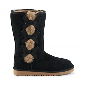 Koolaburra By Ugg Womens Victoria Tall Fur Boot - Black