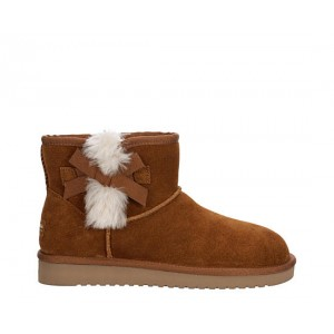 Koolaburra By Ugg Womens Victoria Mini Fur Boot - Tan