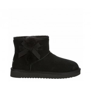 Koolaburra By Ugg Womens Victoria Mini Fur Boot - Black