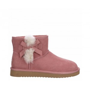 Koolaburra By Ugg Womens Victoria Mini Fur Boot - Pale Pink