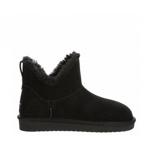 Koolaburra By Ugg Womens Euna Mini Fur Boot - Black