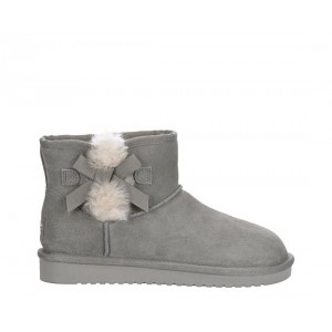 Koolaburra By Ugg Womens Victoria Mini Fur Boot - Grey