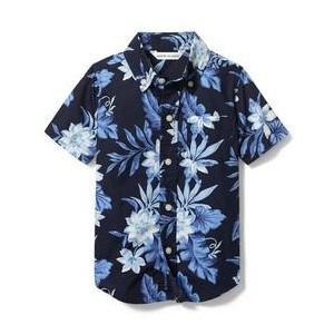 Tropical Floral Poplin Shirt