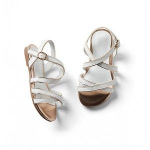 Metallic Trim Strap Sandal