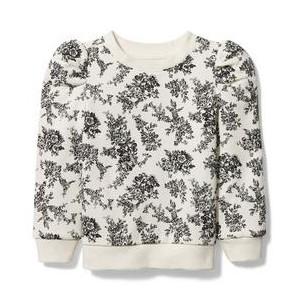 Floral Toile Sweatshirt