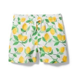 Lemon Print Swim Trunk