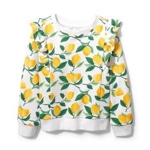 Lemon Ruffle Sweatshirt