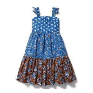 Mixed Paisley Floral Maxi Dress