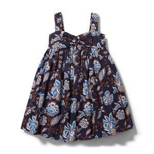 Paisley Floral Bow Swing Dress