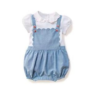 Baby 2-Piece Strawberry Button Romper Set