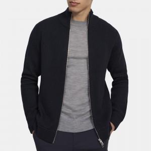 Zip-Up Sweater in Merino Wool