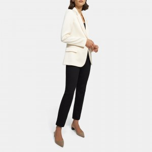 Fitted Blazer in Gloss Sateen