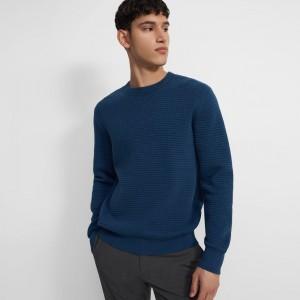 Waffle-Knit Sweater in Organic Cotton