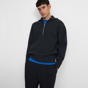 Quarter-Zip Sweater in Fine Bilen
