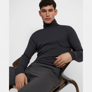 Turtleneck in Ribbed Pima Cotton