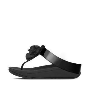 Womens FLORRIE Patent Toe-Post Sandals
