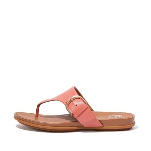 GRACIE Buckle Leather Toe-Post Sandals