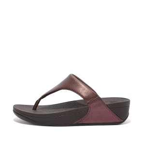 Womens Lulu Leather Toe-Post Sandals