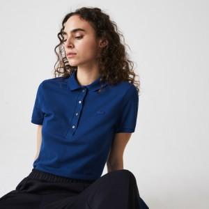 Womens Stretch Cotton Pique Polo Shirt
