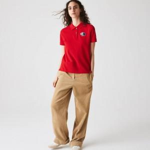 Womens Lacoste Regular Fit Cotton Pique Polo Shirt