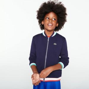 Girls' Zip Fleece Bomber Jacket