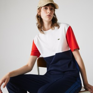 Womens Made In France Crew Neck Tricolour T-shirt