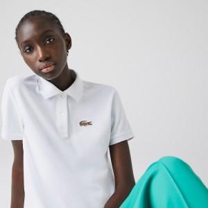 Women's Lacoste x National Geographic Cotton Pique Polo Shirt <strong>세일제외품목: 가격 변동으로 재안내드릴 수 있습니다. </strong>