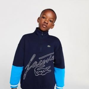 Boys' Zip Colorblock Sweatshirt