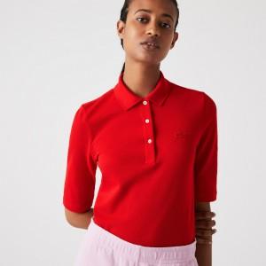 Womens Lacoste Slim Fit Supple Cotton Polo
