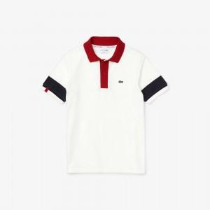 Boys Lacoste Made in France Pique Effect Cotton Polo Shirt