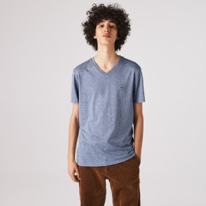 Mens V-neck Pima Cotton Jersey T-shirt