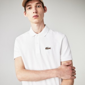Men's Lacoste x National Geographic Regular Fit Organic Cotton Polo Shirt