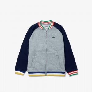 Boys' Two-Tone Fleece Bomber Jacket