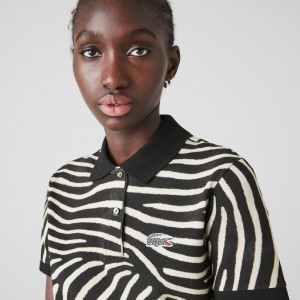 Women's Lacoste x National Geographic Animal Print Pique Polo Shirt