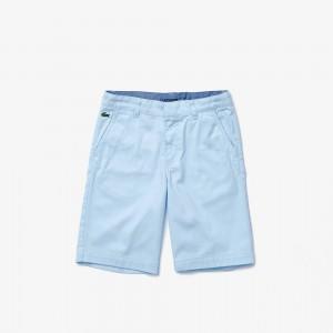 Boys' Stretch Cotton Twill Bermuda Shorts