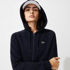 Womens SPORT Hooded Fleece Zip Tennis Sweatshirt