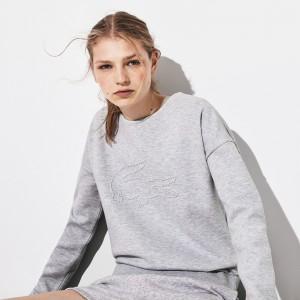Women's SPORT Oversize Croc Cotton-Blend Sweatshirt