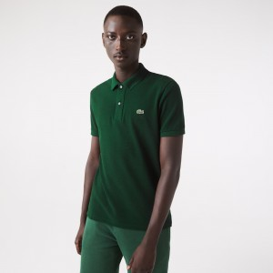 Mens Slim Fit Polo in Petit Pique