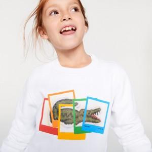 Kids Polaroid Collaboration Printed Sweatshirt