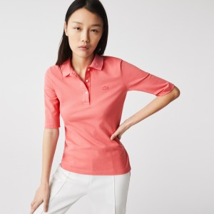 Womens Lacoste Slim Fit Supple Cotton Polo